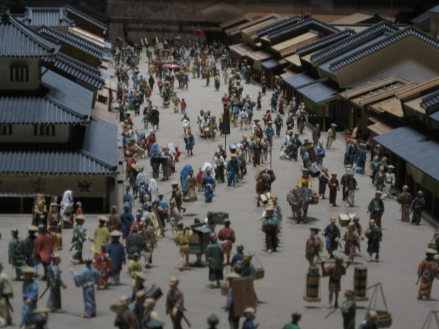From one of the many models of a Tokyo street scene at the Edo Tokyo Museum