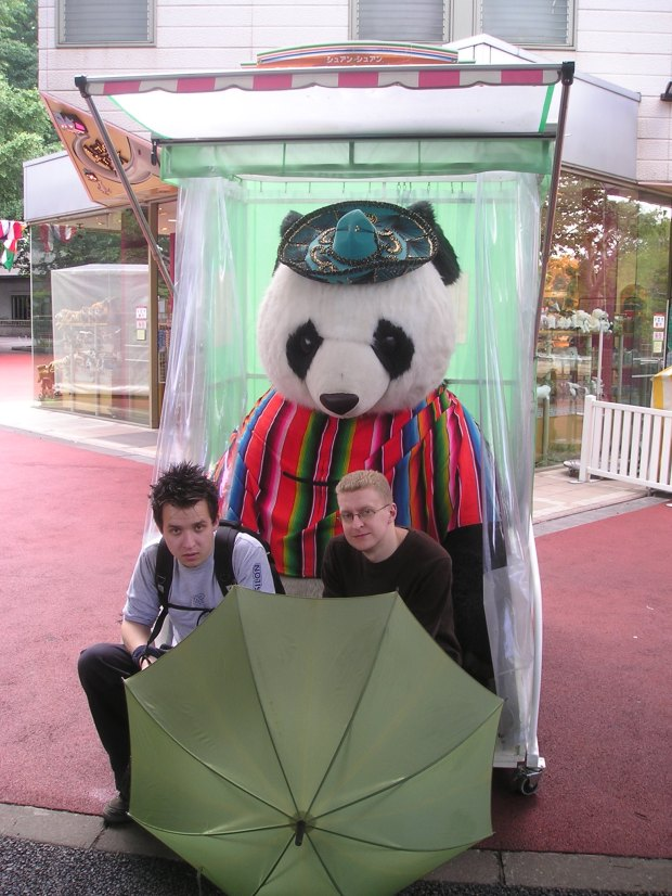 Code Red and I in front of a Mexican Panda