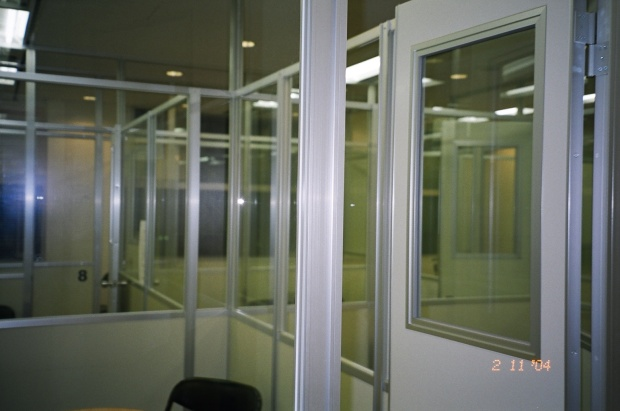 Nova Classrooms - a maze of glass boxes