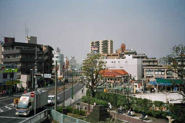 The view near Mukogaoka-Yuen station including Wendy's in the middle of the shot