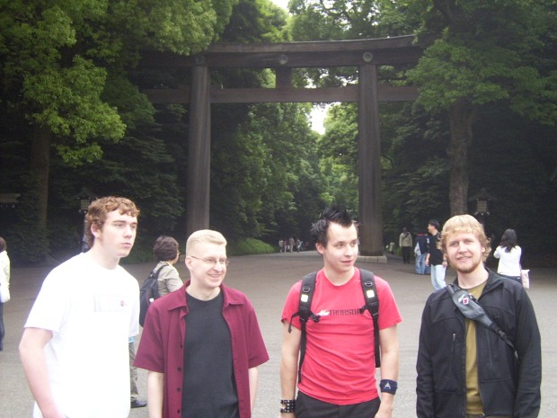 Team Awesome Sauce at Meiji Shrine