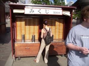 Mikuji stand at Senso-ji