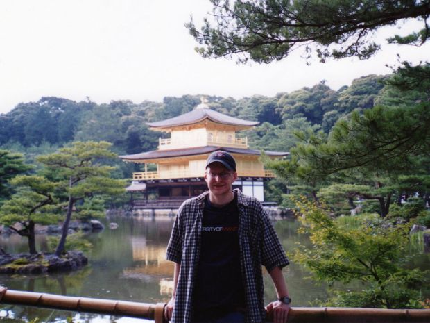 Me at Kinkakuji. Please note the Winnipeg Jets hat and the University of Manitoba shirt.