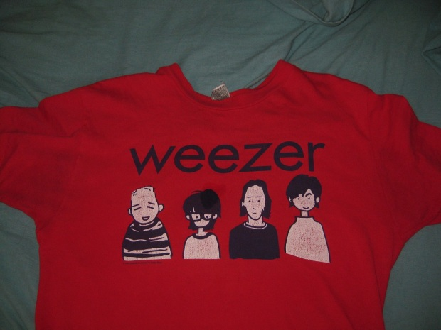 My Weezer shirt that I bought in Harajuku
