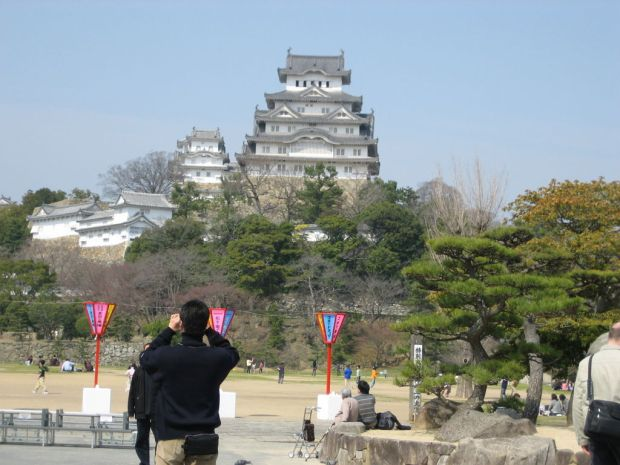A front view of Himeji Castle