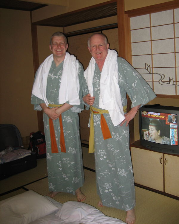 With my dad before our first onsen experience